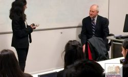 NCS student's masterclass with Prof Sandel