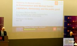 NCS student's attend Prof Sandel's LSE Lecture